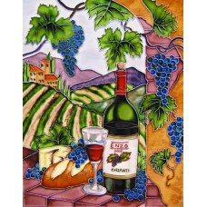 """11""""x14"""" Enzo Blue Grapes With Arch Vertical"""