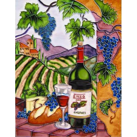 "11""x14"" Duel Bottles, Wine Testing"