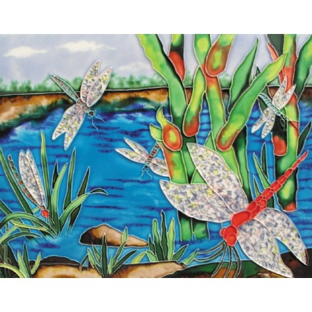 "11""x14"" Dragonflies near the river"