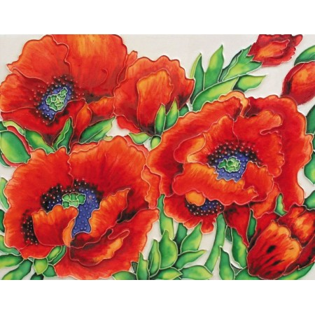 "11""x14"" Red Poppies"
