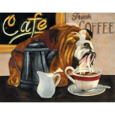 "11""x14"" Coffee Dog"