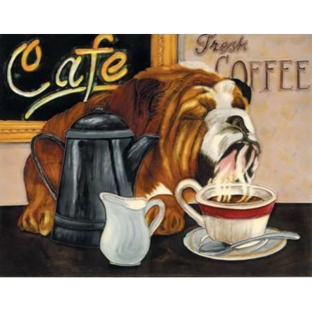 "11""x14"" Coffee Dog"