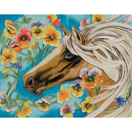 """11""""x14"""" White Horse"""