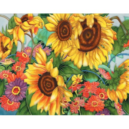 "11""x14"" Gerbera and Sunflower Garden"