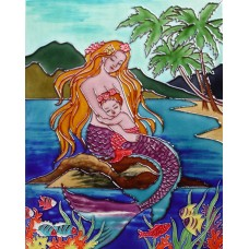 "11""x14"" Mermaid with baby mermaid"