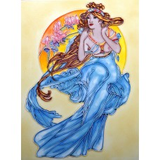 "11""x 14"" Moon & Woman"