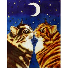 "11""x14""  Kissing Cats"