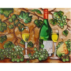 "11""x14"" White Wines with Grapes"