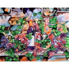 "11""x14"" Wine Bottle Against the Wall"