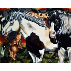 "11""x14"" Field Horses"