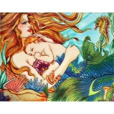 """11""""x14"""" Little Neptune & Mother Mermaid"""