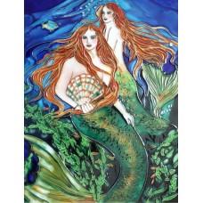 """11""""x14"""" Shell Pearl Mermaid"""