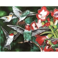 """11""""x14"""" Hummingbird Garden"""
