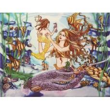 """11""""x14"""" Mom and Child Mermaid"""