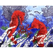 "11""x14"" Red Seahorses"