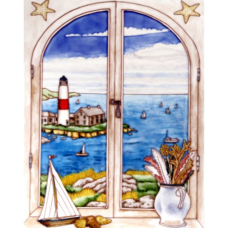 "11""x14"" Window View - Lighthouse"