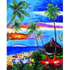 "11""x 14"" Sunset & Palm Tree"