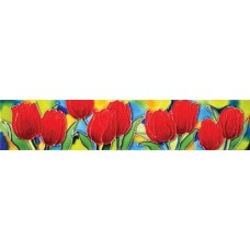 "3"" X 16"" Red tulips"