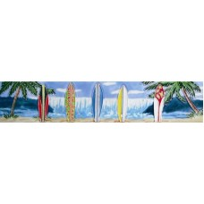 "3"" X 16"" 5 surfboards and ocean view"