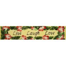 "3"" X 16"" Live laugh love"