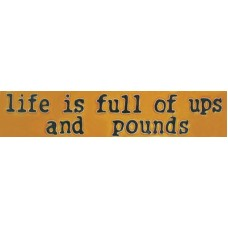 "3""x 16"" Life is Full of Ups and Pounds"