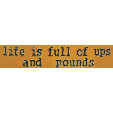 """3""""x 16"""" Life is Full of Ups and Pounds"""