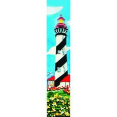 "3"" X 16"" White and black light house"