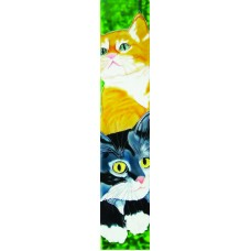 "3"" X 16""  black and yellow cats"
