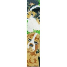 "3"" X 16""  black and brown dogs"