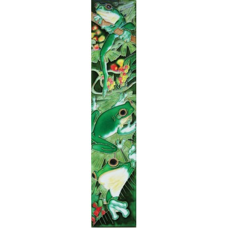 """3"""" X 16"""" Dragonflies with Louts Flower"""
