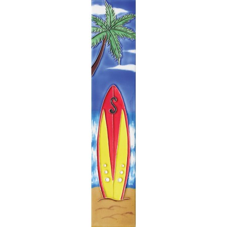 "3"" X 16"" red surfboard"