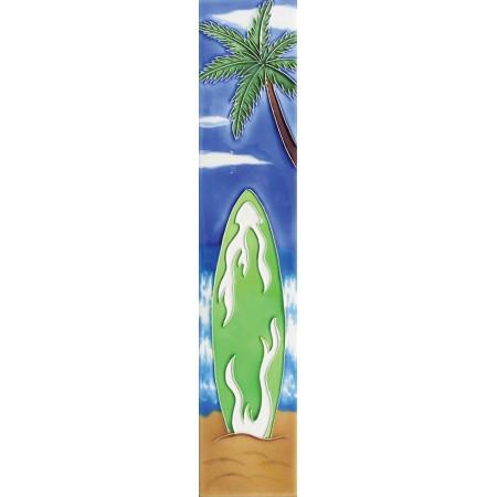 "3"" X 16"" Green surfboard"
