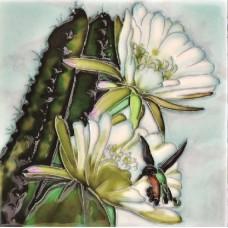 """6""""x6"""" Cactus Hummingbird Dance"""