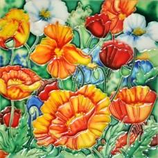 """6""""x6"""" Poppies"""