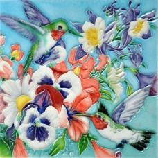 """6""""x6"""" Hummingbird Delight"""