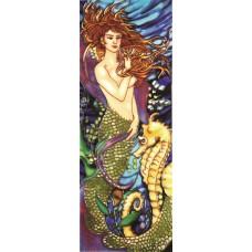 "6"" X 16"" Mermaid Seahorse"