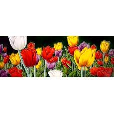 "6"" X 16"" Tulips Garden"