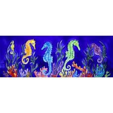"6"" X 16"" Seahorses"