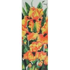 """6""""x16""""Orange Flowers"""