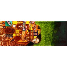 "6"" X 16"" Embrace By Gustav Klimt"