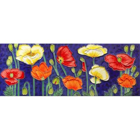 "6"" X 16"" White Tulips"