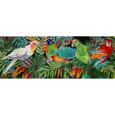 """6"""" X 16"""" Parrot Forest"""