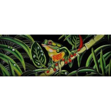 """6"""" X 16"""" Red Eyed Tree Frog"""