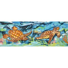 "6"" X 16"" Twin Turtles"