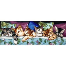"6"" X 16"" Cats Sleeping"