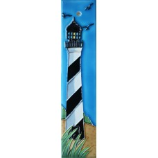 2x8.5 Black & White Lighthouse Left