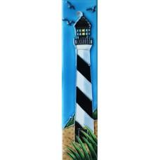 2x8.5 Black & White Lighthouse Left